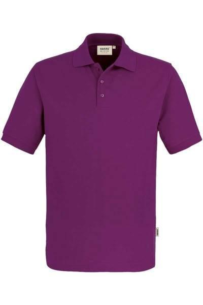 HAKRO Comfort Fit Poloshirt aubergine, Einfarbig