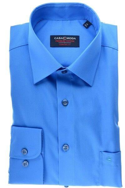 Casa Moda Hemd - Comfort Fit - blau, Einfarbig