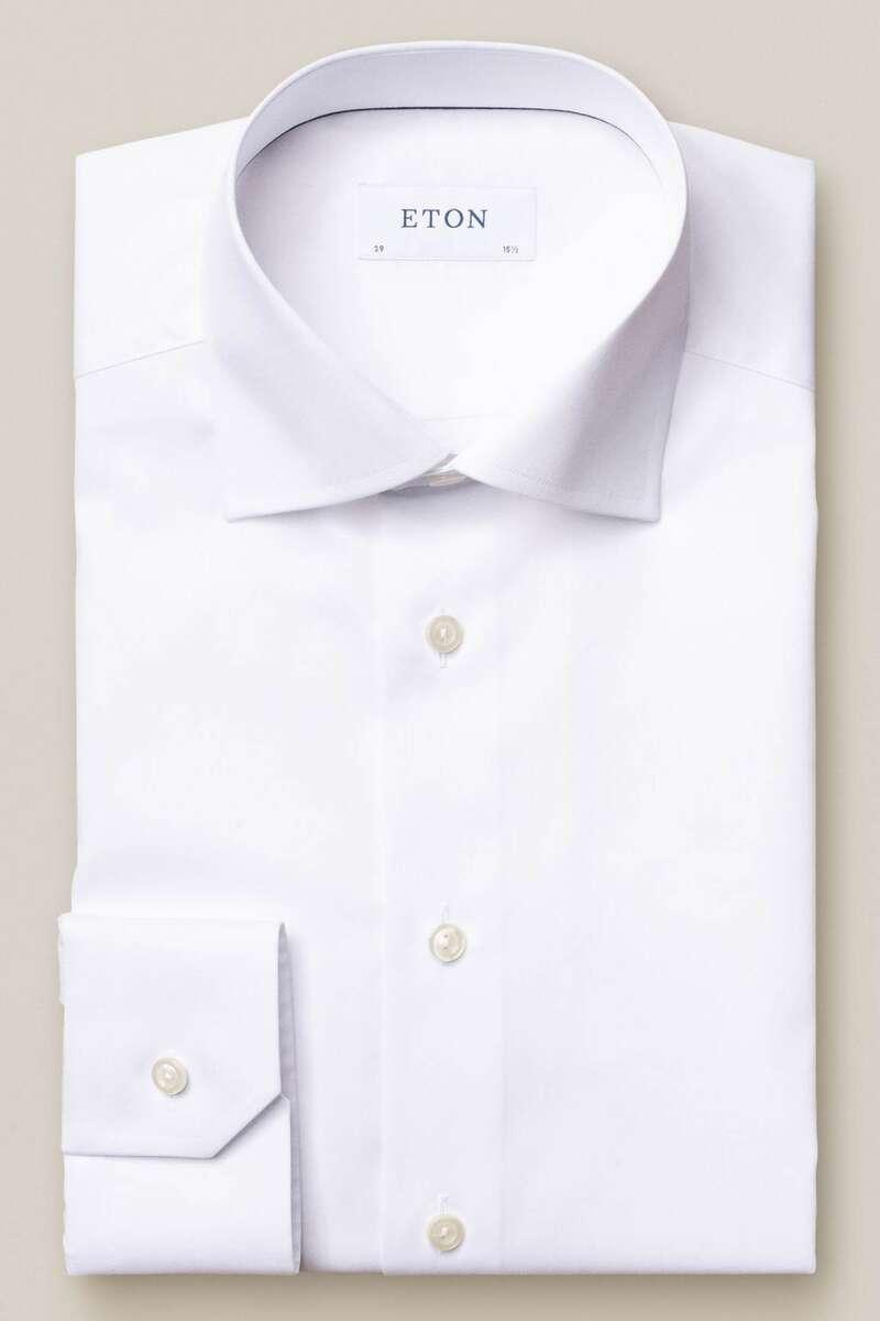 ETON Slim Fit Hemd weiss, Einfarbig 40 - M