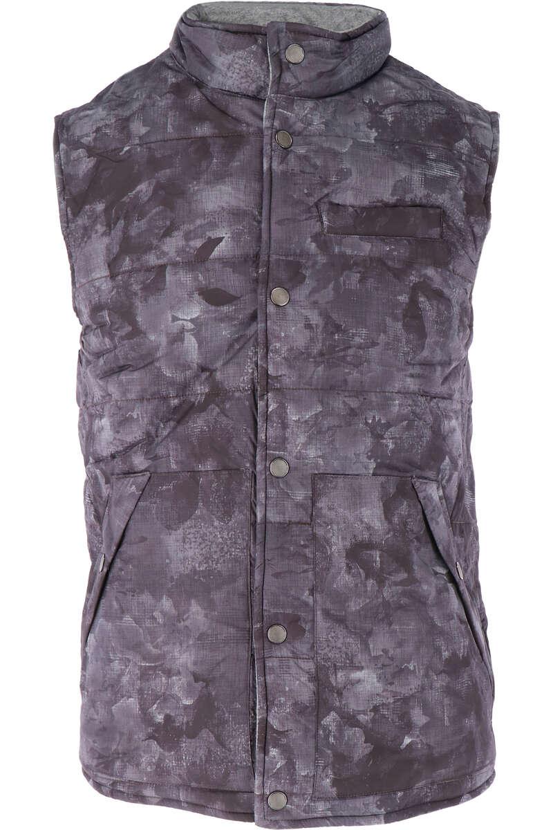Marvelis Casual Modern Fit Weste Knopfleiste grau, gemustert XL