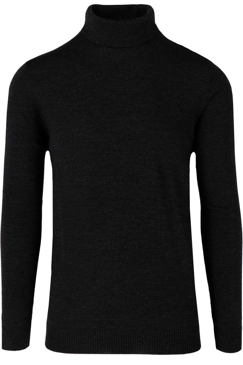 Maerz Modern Fit Rollkragenpullover schwarz, einfarbig 50