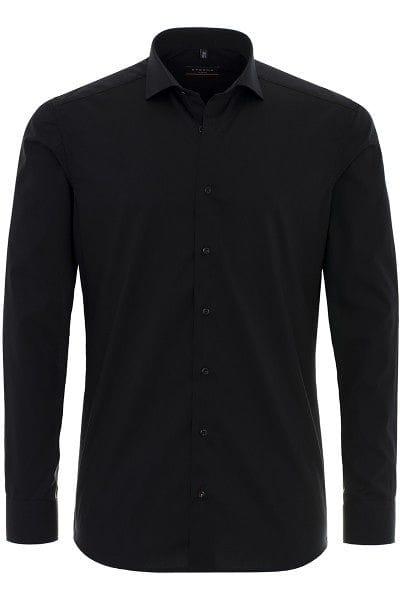 Eterna Hemd - Slim Fit - schwarz, Einfarbig