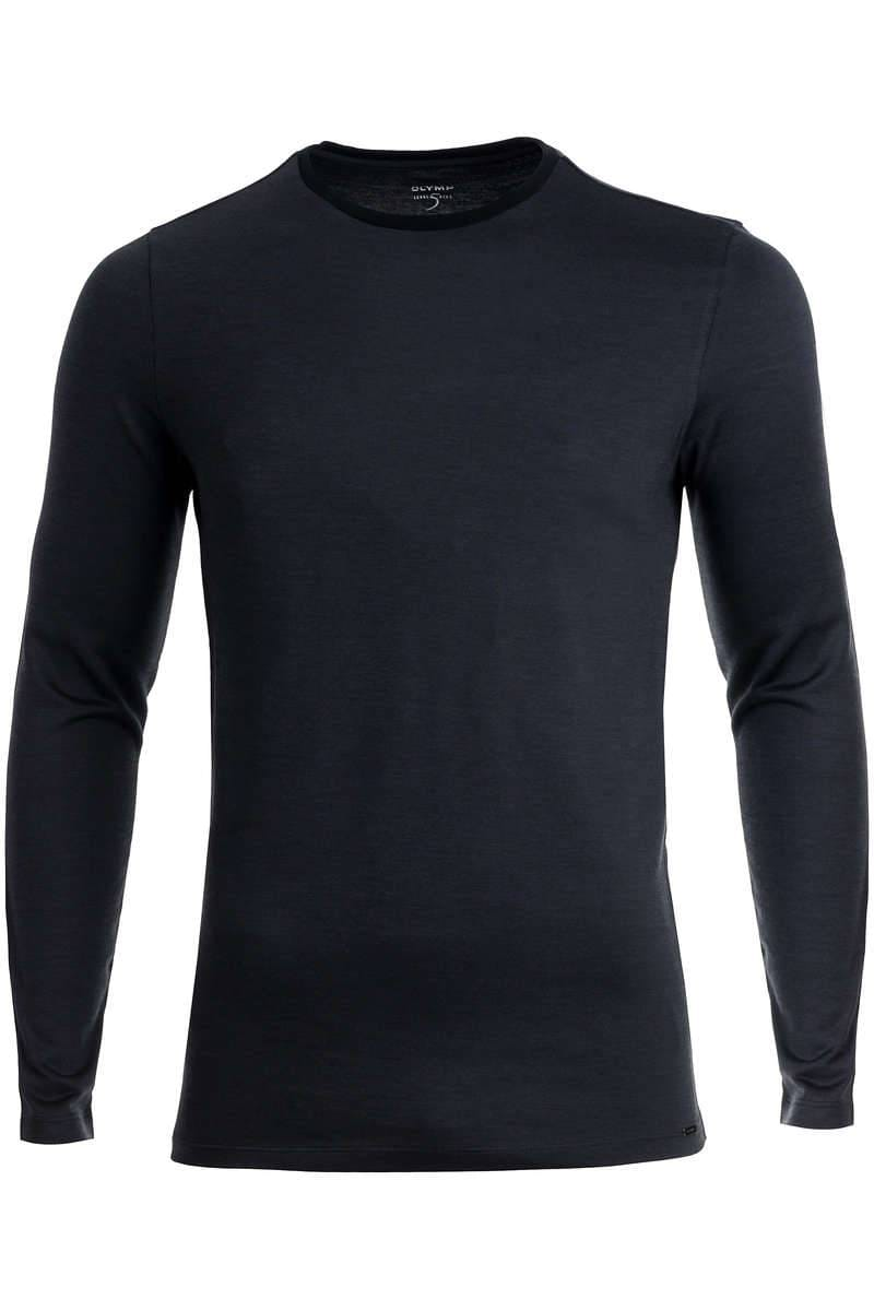 OLYMP Level Five Body Fit Longsleeve Rundhals anthrazit, einfarbig