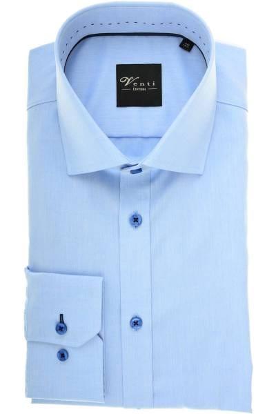 Venti Slim Fit Hemd blau, Einfarbig