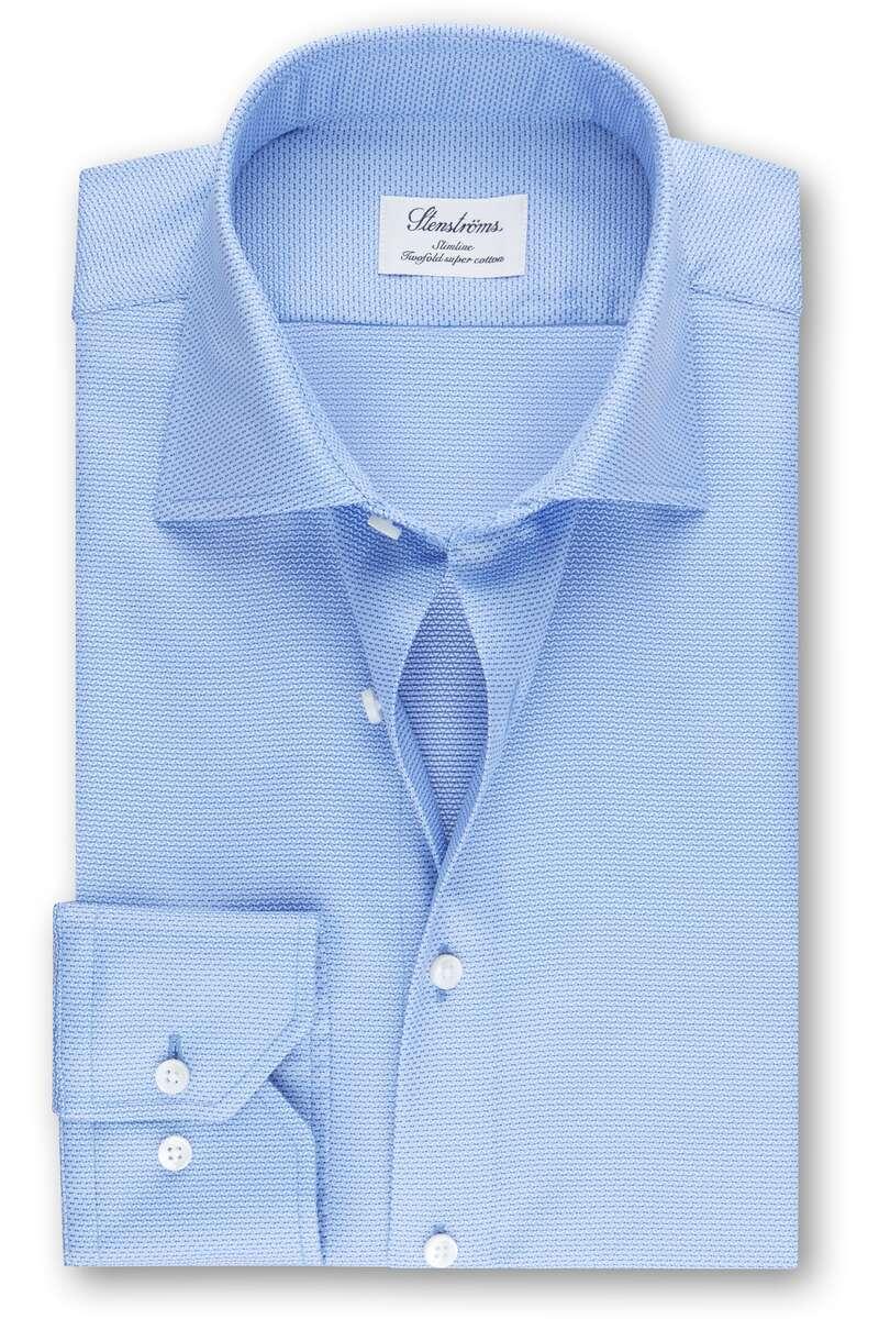 Stenströms Slimline Hemd blau, Gemustert 43 - XL