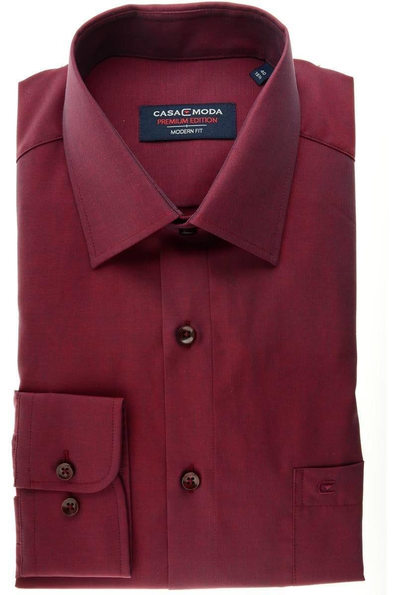 Casa Moda Hemd - Modern Fit - bordeaux , Einfarbig