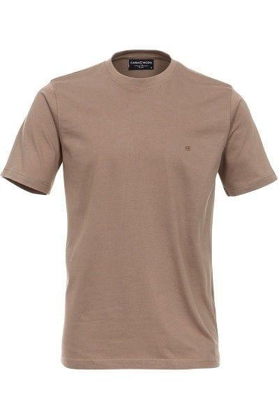 Casa Moda T-Shirt - Rundhals - oliv, Einfarbig