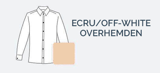 Ecru Off-white Overhemden