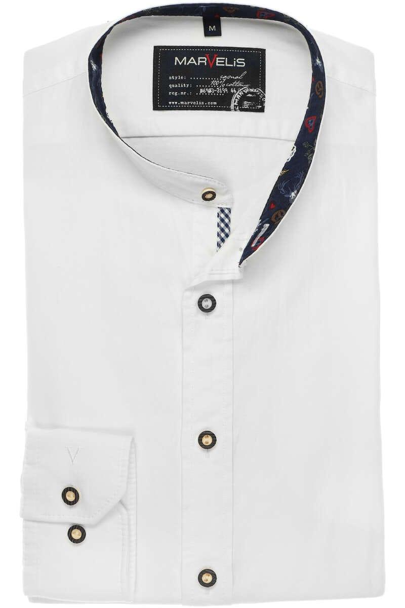 Marvelis Casual Modern Fit Trachtenhemd weiss, Einfarbig L