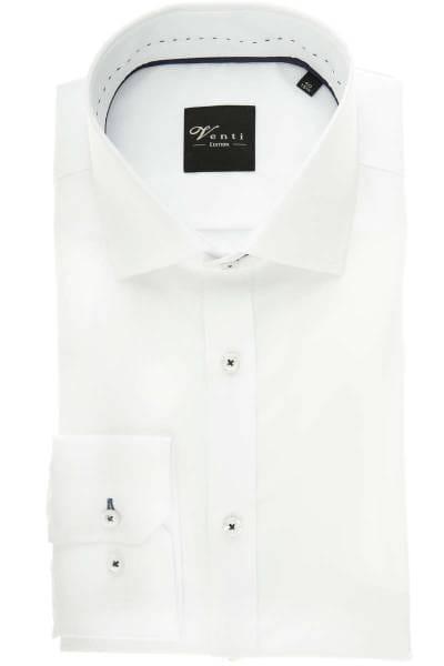 Venti Slim Fit Hemd weiss, Einfarbig