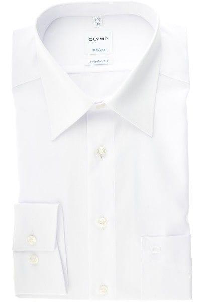 Olymp Hemd - Regular Fit - weiss, Einfarbig