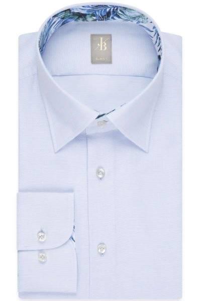 Jacques Britt Slim Fit Hemd hellblau, Strukturiert
