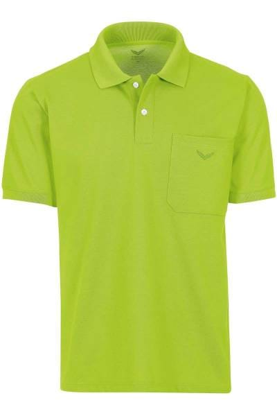 TRIGEMA Comfort Fit Poloshirt lemon, Einfarbig
