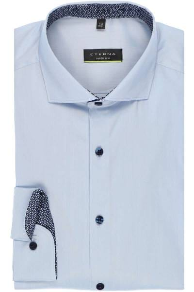 Eterna Long Sleeve Shirt Super-Slim Stretch Uni