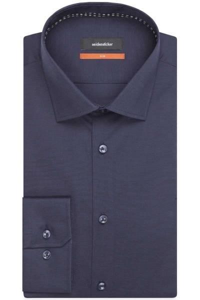 Seidensticker Slim Fit Hemd anthrazit, Einfarbig