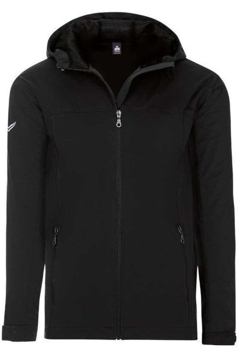 TRIGEMA Comfort Fit Regenjacke Kapuze schwarz, einfarbig M