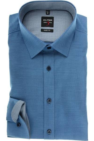 OLYMP Level Five Body Fit Hemd bleu, Faux-uni