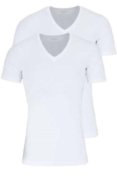 Marvelis Body Fit V-Ausschnitt T-Shirt Doppelpack weiss