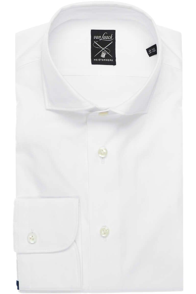 van Laack Hybrid Slim Fit Jerseyhemd weiss/navy, Einfarbig M