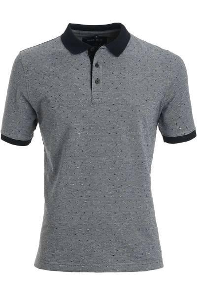 Marvelis Poloshirt schwarz, Gemustert