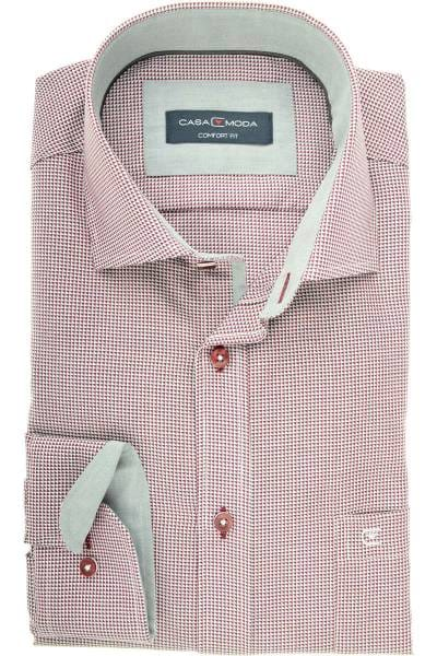 Casa Moda Comfort Fit Hemd rot/weiss, Gemustert