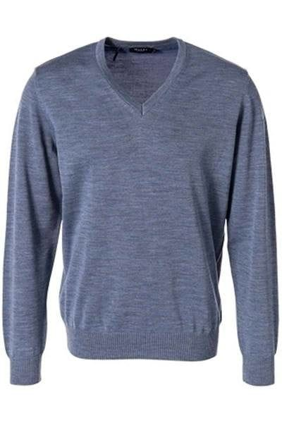MAERZ Strickpullover V-Ausschnitt Pullover - rauchblau