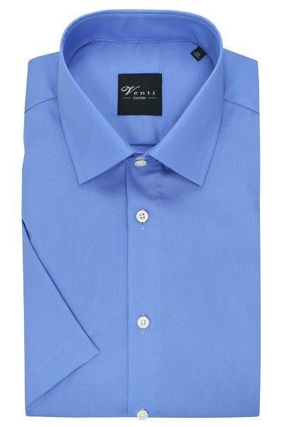 Venti Hemd - Slim Fit - blau, Einfarbig