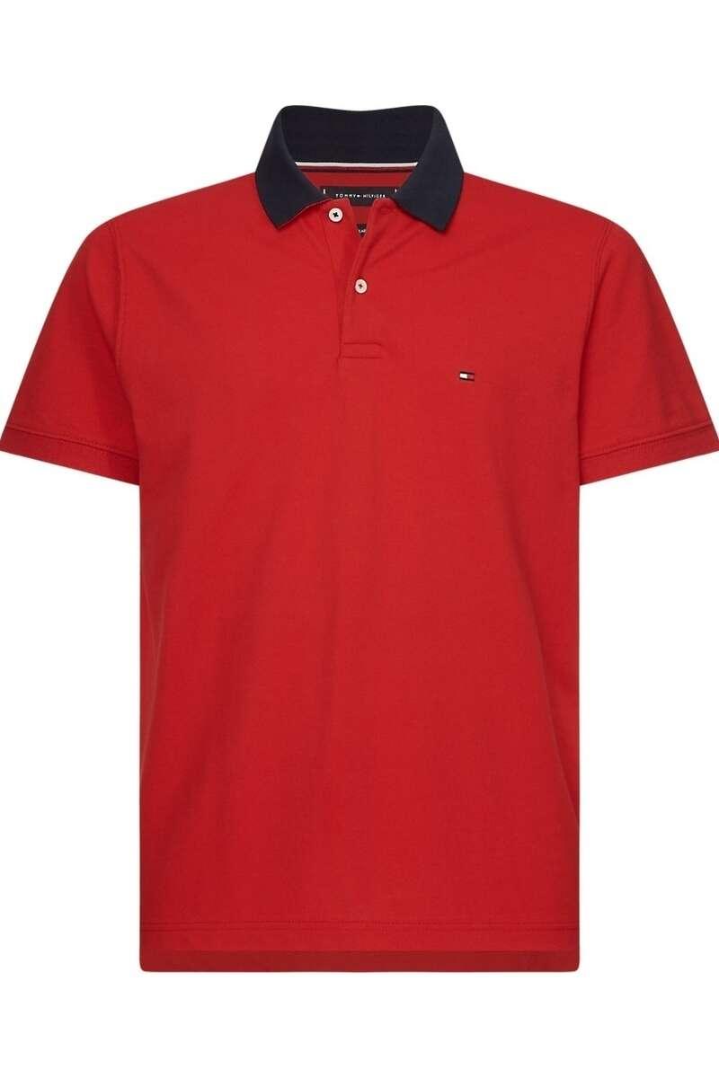 Tommy Hilfiger Regular Fit Poloshirt rot, Einfarbig M