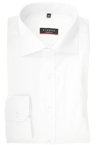 Eterna Modern Fit Hemd weiß, Einfarbig