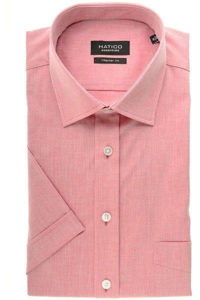 Hatico Hemd - Regular Fit - rot, Einfarbig