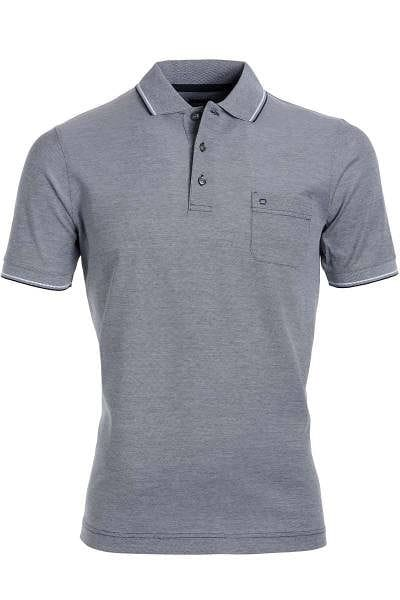 Olymp Modern Fit Poloshirt marine/weiss, Zweifarbig