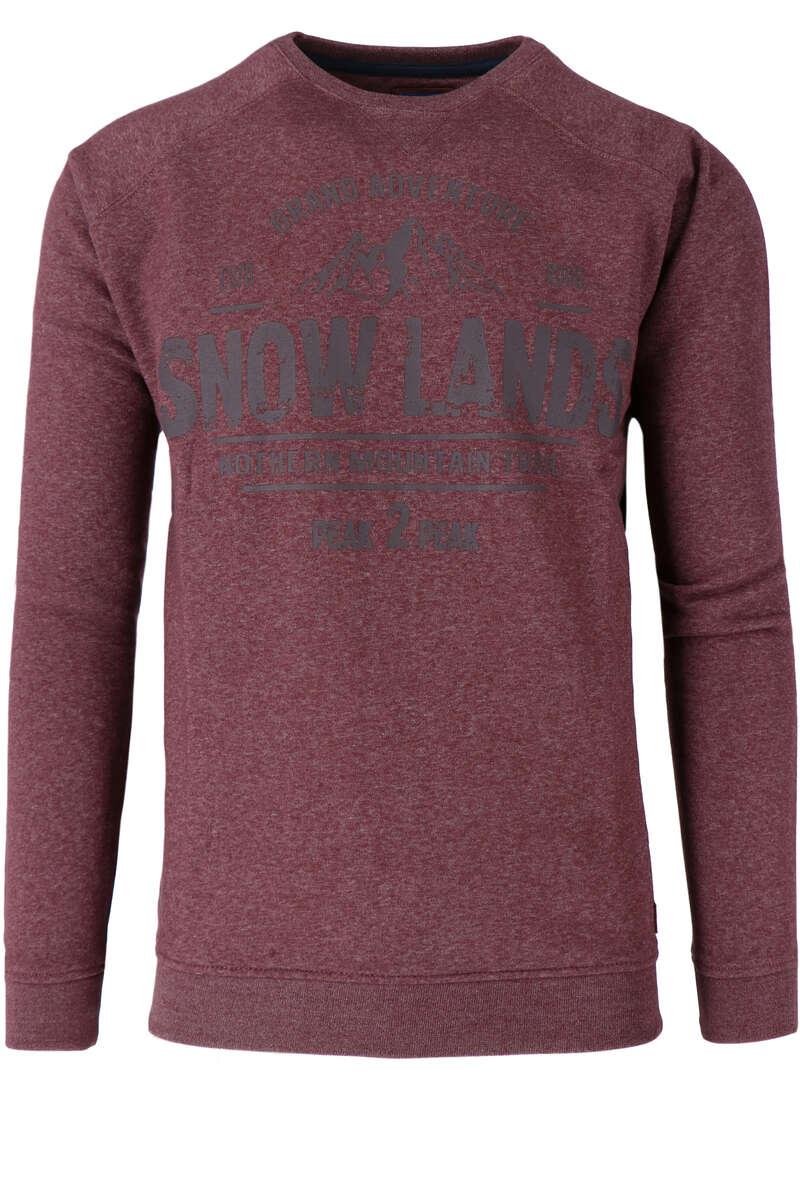 Redmond Sweatshirt Rundhals rot, gemustert S