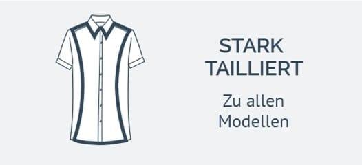 Stark taillierte Kurzarmhemden