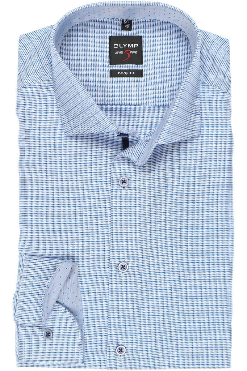 OLYMP Level Five Body Fit Hemd blau, Kariert