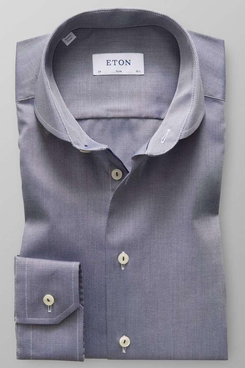 ETON Slim Fit Hemd marine, Faux-uni 39 - M