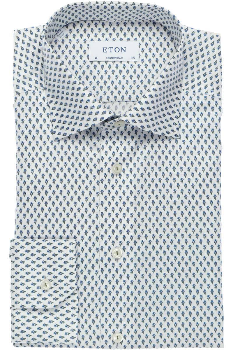 ETON Contemporary Fit Hemd beigegrün, Gemustert