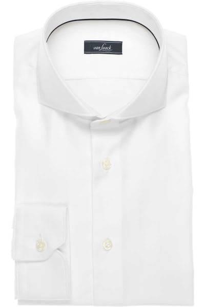 van Laack Slim Fit Hemd weiss, Einfarbig