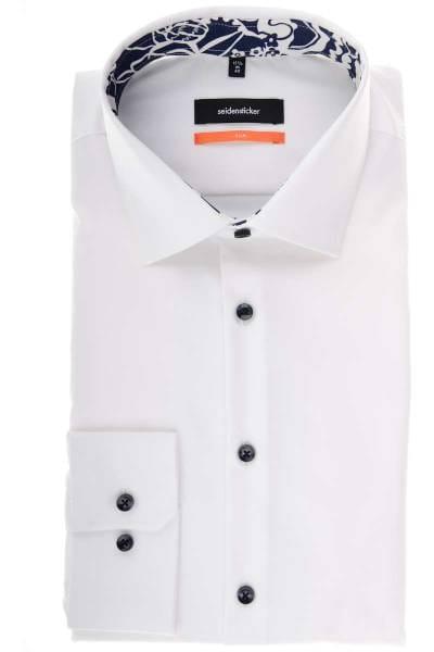 Seidensticker Slim Fit Hemd weiss, Einfarbig