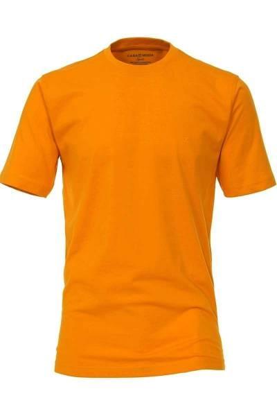 Casa Moda T-Shirt Rundhals orange, einfarbig