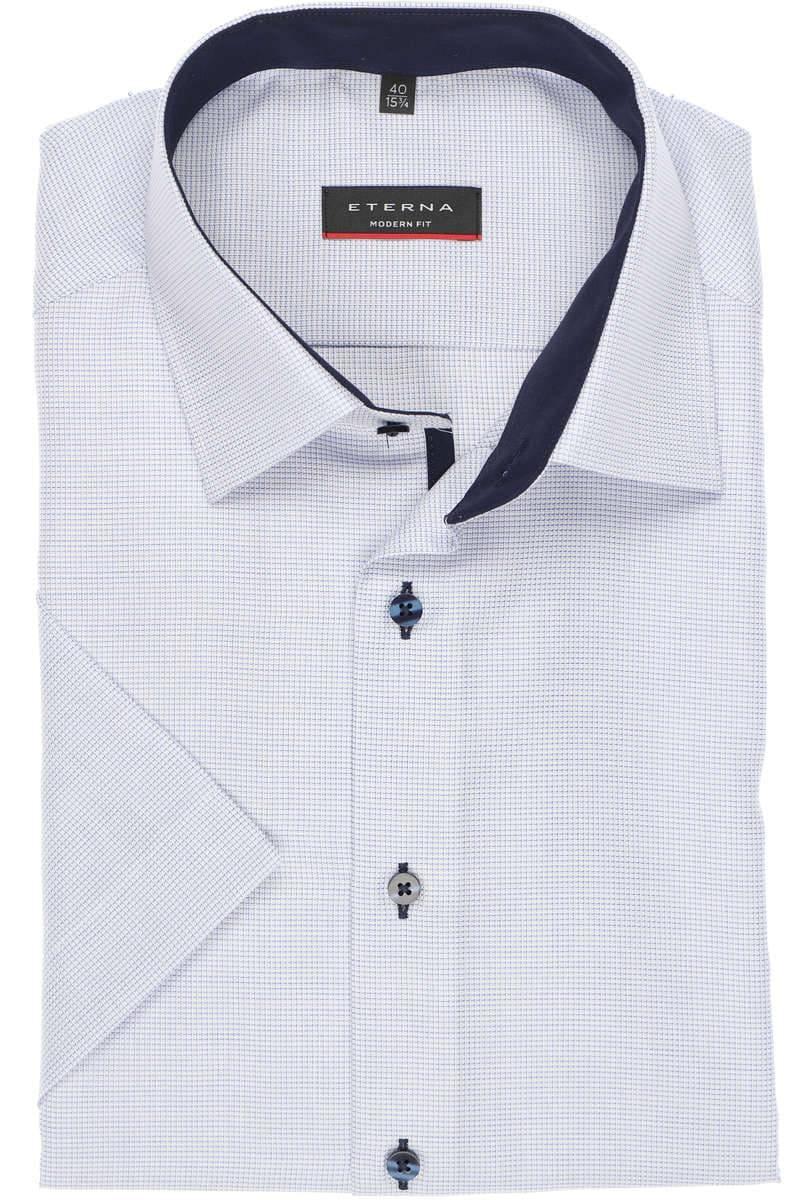 Klassische Herrenhemden ETERNA Hemd Modern Fit Weiß Muster