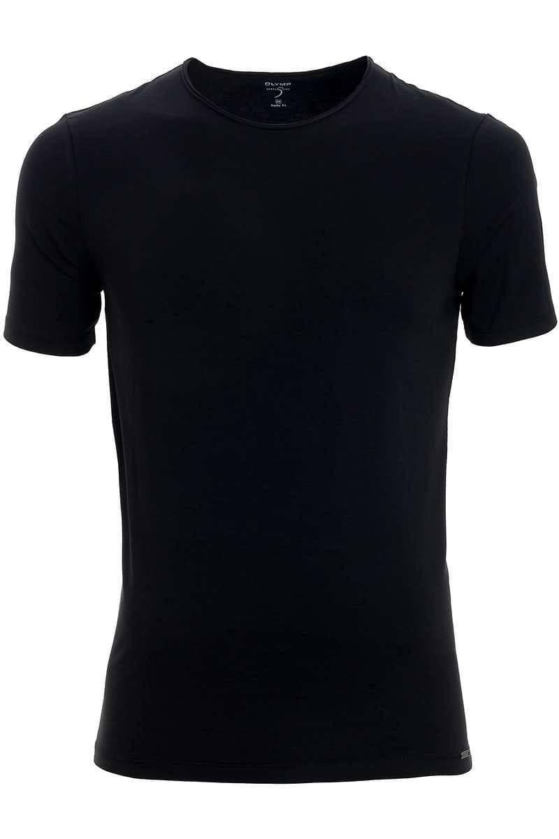OLYMP Level Five Body Fit T-Shirt Rundhals schwarz, einfarbig