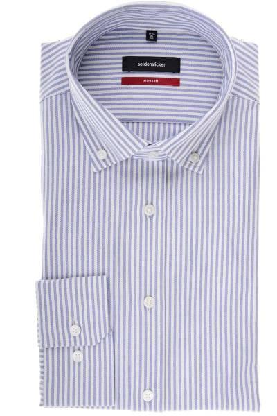 Seidensticker Modern Fit Hemd blau/weiss, Gestreift