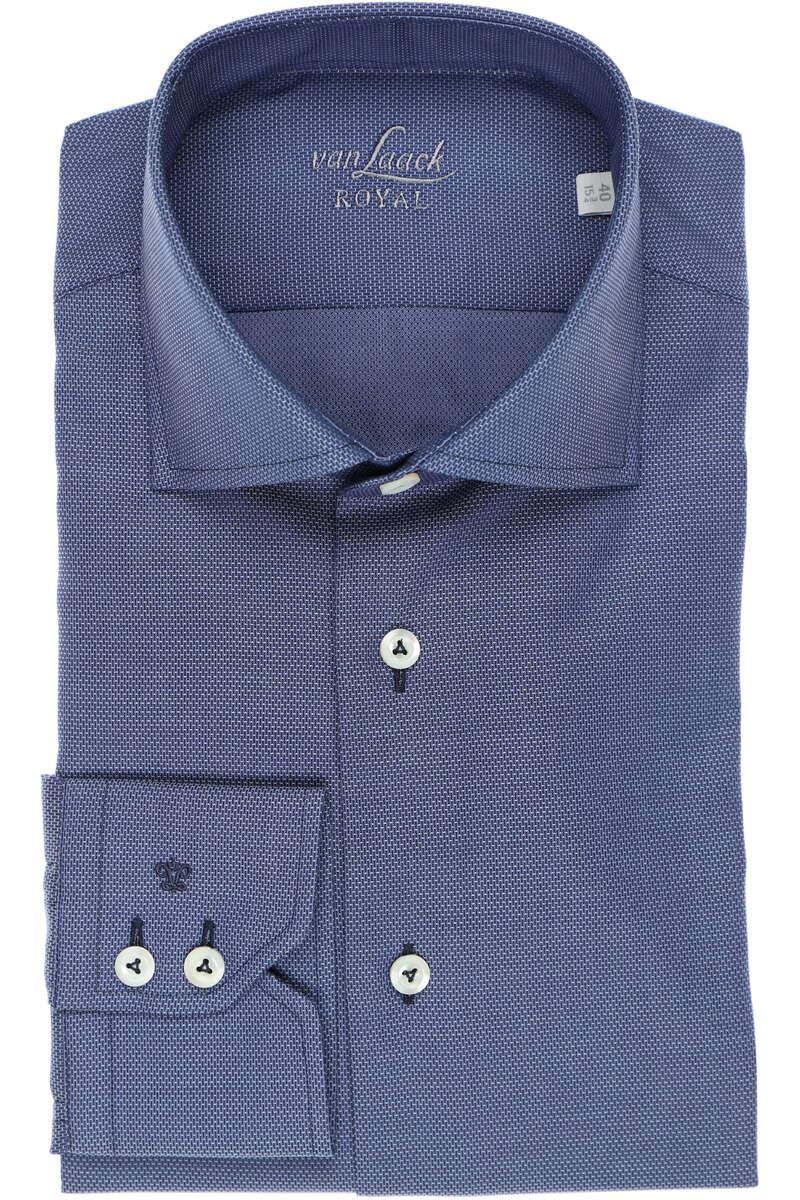 van Laack Tailor Fit Hemd dunkelblau, Faux-uni 42 - L