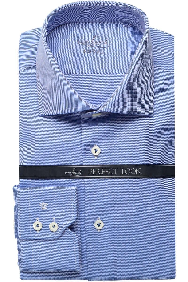 Van Laack Tailor Fit Hemd royal/blau, Querstreifen 41 - L