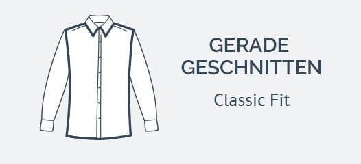 Gerade geschnittene Classic Fit Hemden