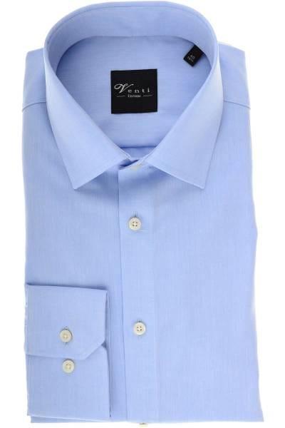 Venti Slim Fit Hemd hellblau, Einfarbig