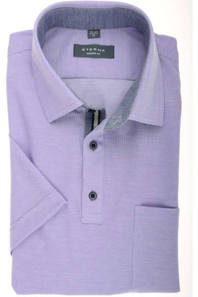 ETERNA Modern Fit Poloshirt flieder, Einfarbig