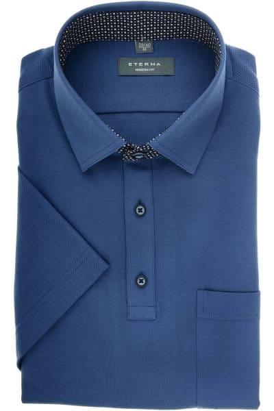 ETERNA Modern Fit Poloshirt rauchblau, Einfarbig