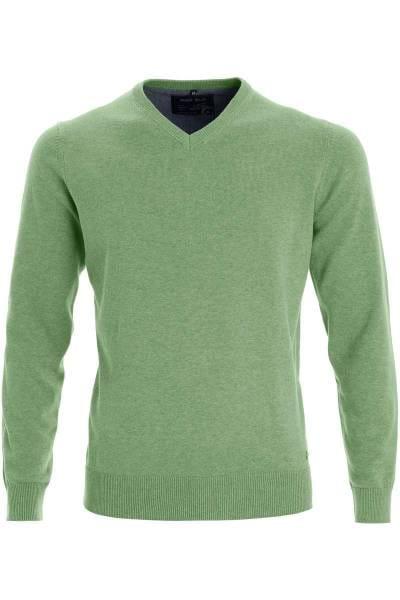 Marvelis Strickpullover V-Ausschnitt lindgrün, einfarbig