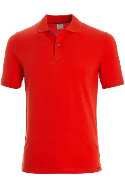 OLYMP Level Five Body Fit Poloshirt hellrot, Einfarbig